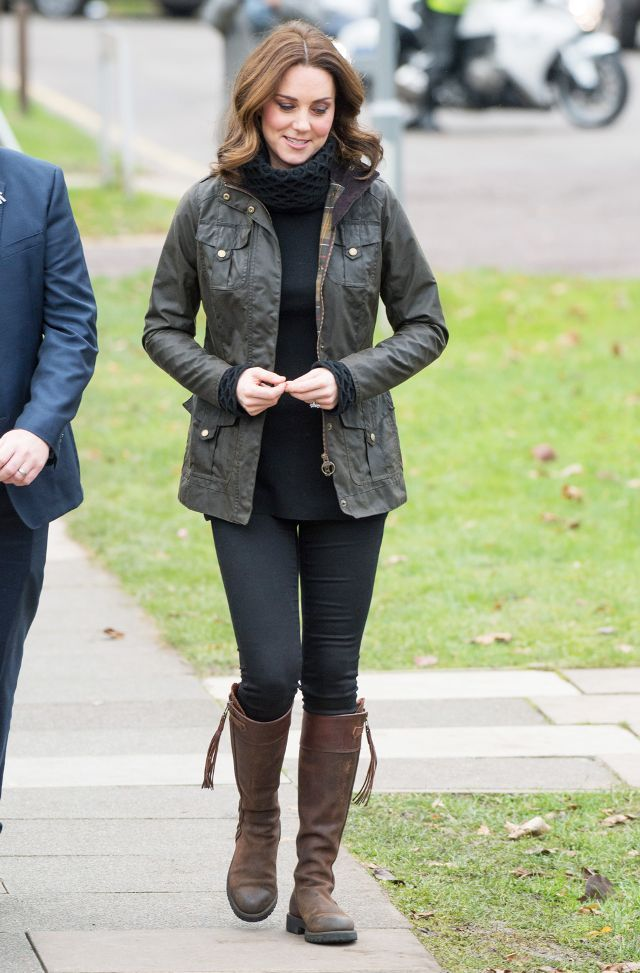 ea1daac0ff9 On Kate Middleton  Barbour jacket  Penelope Chilvers Long Tassel Boots  ( 611)