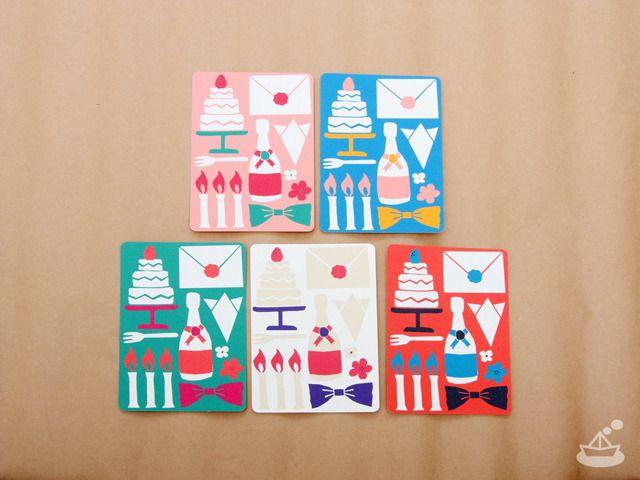 colorful party postcards | カラフルパーティー・ポストカードセット