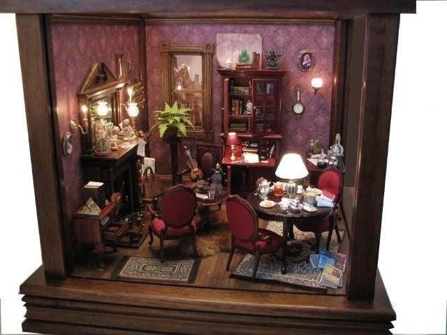 Miniature Sherlock Holmes Google Search Dollhouses