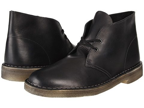 Clarks Desert Boot Black Soft Leather - Zappos.com Free Shipping BOTH Ways