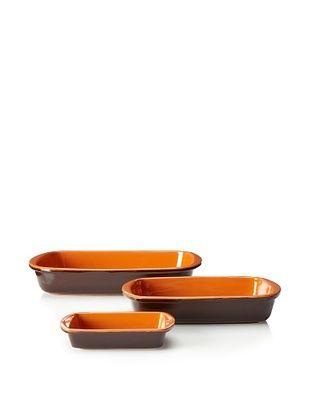 48% OFF COLI 3-Piece Rectangular Baker Set (Brown)