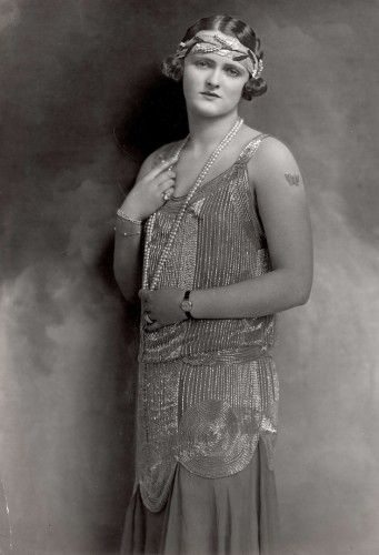 Enid Stamp Taylor, 1924, Actress and Plus Size Flapper- 1920's Plus Size Fashion in the Jazz Age