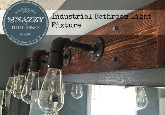 diy industrial vanity light 67, bathroom ideas, how to, lighting, repurposing upcycling