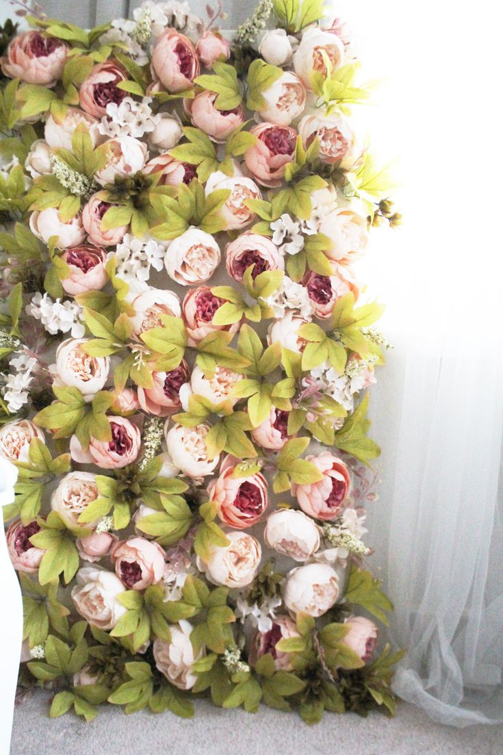HOW TO MAKE A FLOWER WALL   #pinkflowers 'pinkflowerwall #flowerwall #pinkpeonies #diy #diyflowerwall #howtos