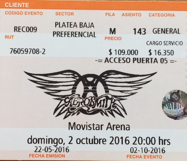 Aerosmith - Live in Santiago, Chile 02-10-2016