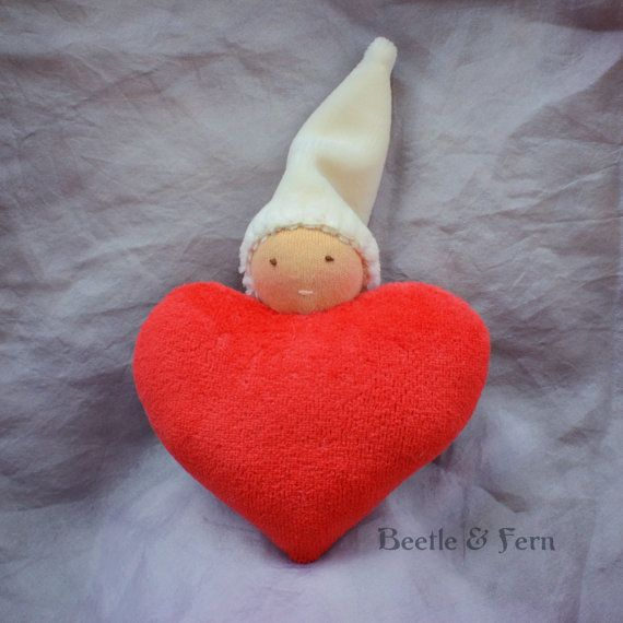 Waldorf Valentine's Day Heart Doll by Beetle and Fern