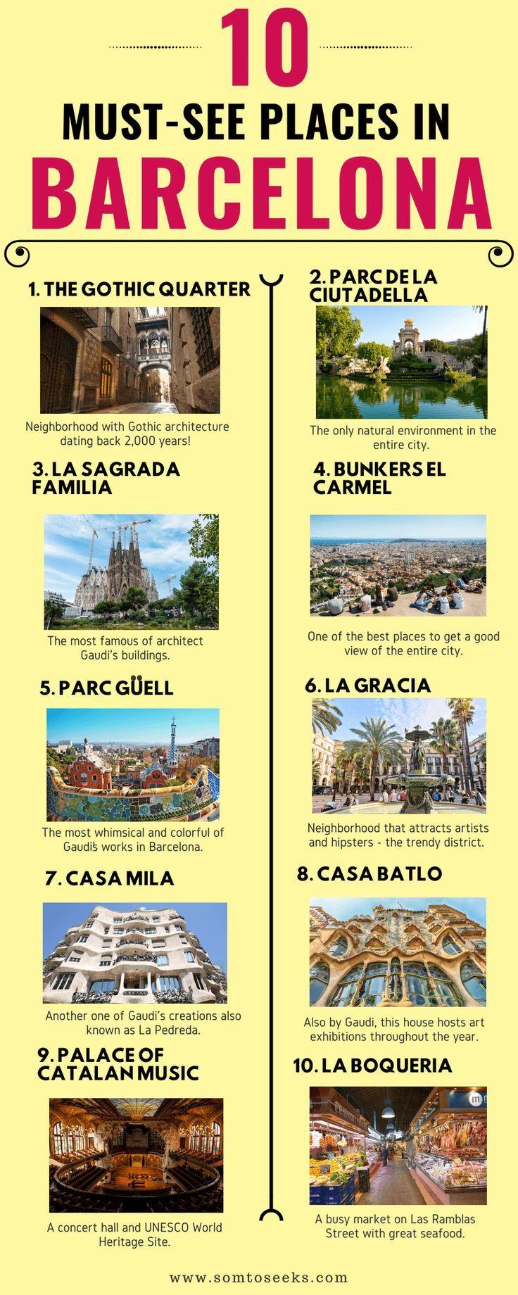 Barcelona Spanien Reisetips I Hier sind 10 der besten Dinge, die man in Barcelona unternehmen kann