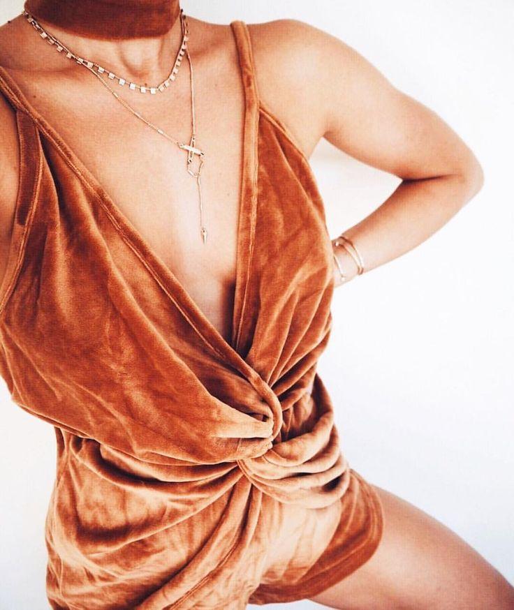 """Draped Velvet Playsuit | #saboskirt  Like actual fabric perfection"