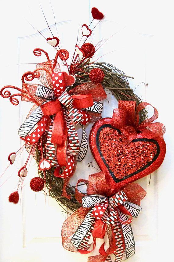 Valentine Wreath Valentine S Day Wreath Valentine Door Wreath