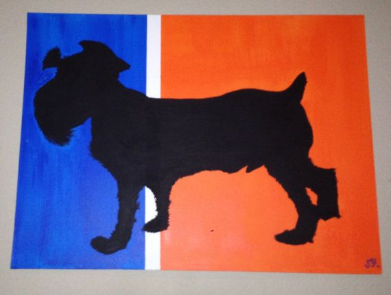 Silhouette Painting of YOUR Pet  on canvas by UnionJackofAllTrades, $75.95