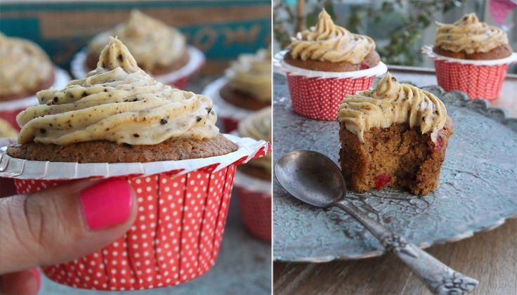 Muffins med lakridsfrosting