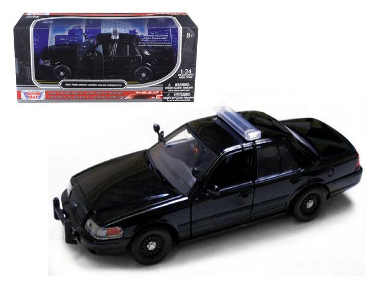 2007 Ford Crown Victoria Police Car Black 1/24 Diecast Car Model by Motormax