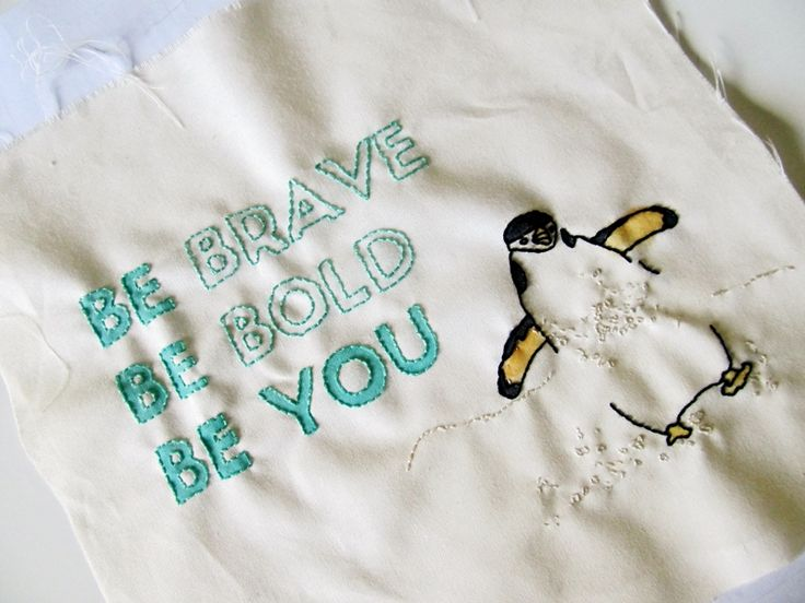 Penguin fabric art by Tupsy Turvy Designs