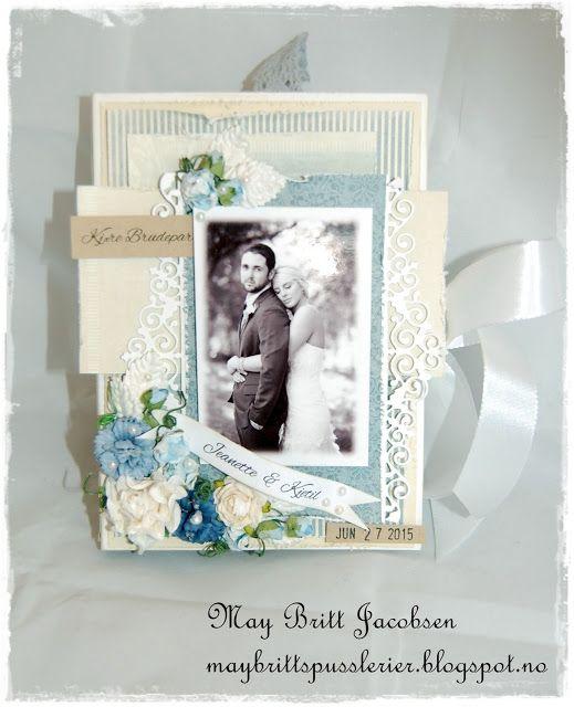 May Britt's pusslerier Pion design book card