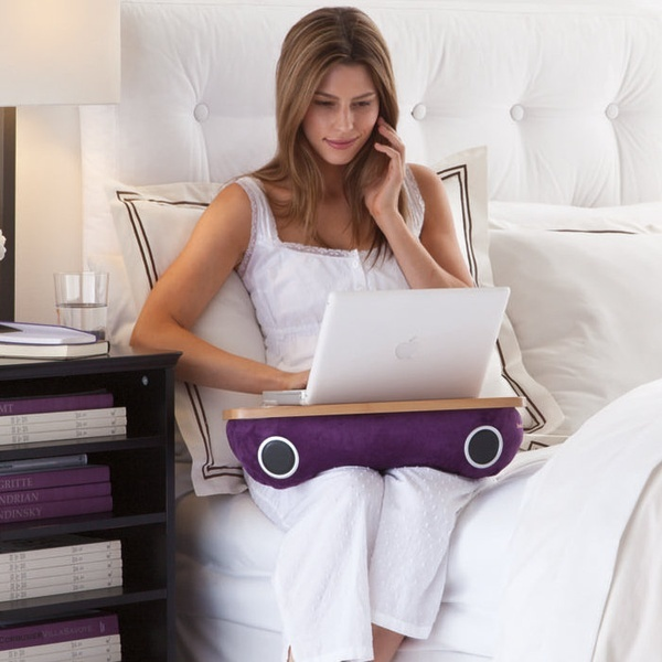 A Computer Lap Pad With Speakers From Brookstone Must