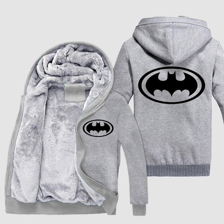 Batman Luminous Zipper Sweatshirts Hoodie //Price: $81.73 & FREE Shipping //