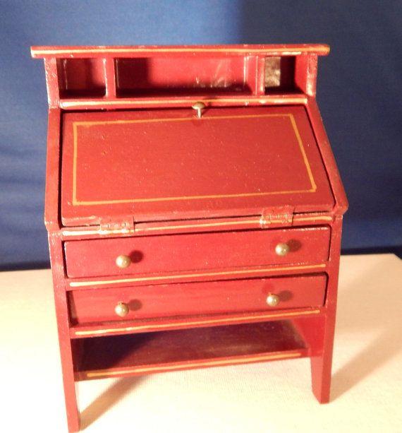vintage dollhouse secretary desk