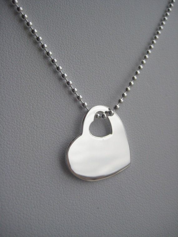 Sterling Silver Heart Necklace On Sale by BeadBashStudio on Etsy, $35.00