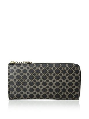 61% OFF Ivanka Trump Women's Ivanka Printed Logo Zip Around Organizer, Black