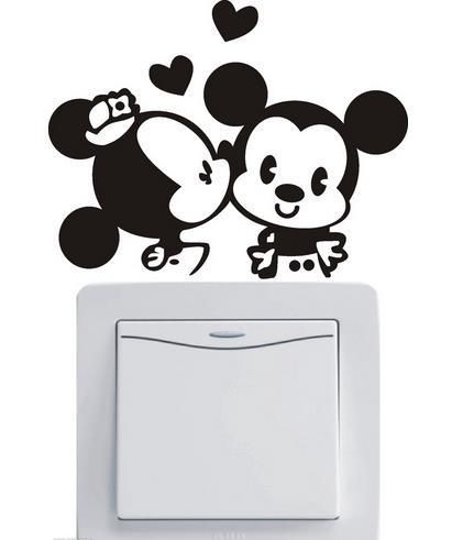 Cute Minnie & Mickey Light Switch.Sticker   Free Worldwide Shipping!  Only $2.99    Order from: www.happycozyhome.com