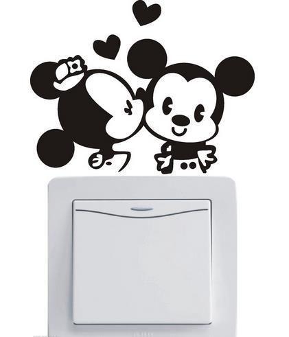 Cute Minnie & Mickey Light Switch.Sticker   Free Worldwide Shipping!  Only $2.99    Order from: www.happycozyhome.com