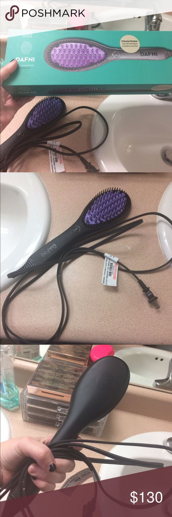 Dafni straightening brush Authentic I bought this for 170$, it works well, im selling because I hardly use it. Beware of knockoff dafni brushes. If the price is too goo to be true-then it is. Which is why I bought mine on their site. Im open to offers, but no low ballers. Bought in October 2016. Dafni Other