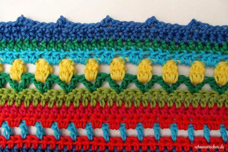Crochet Along Regenbogen Babydecke Teil 13 - Anleitung für eine wunderschöne Babydecke!