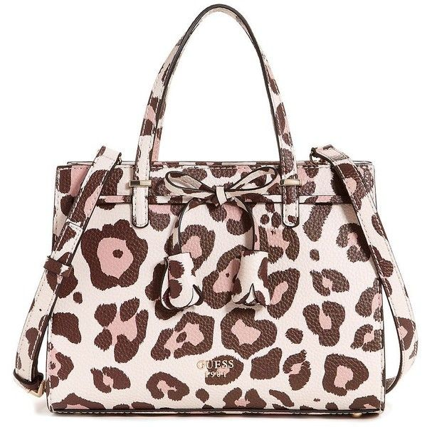fe195edd0 Guess Women's Leila Small Girlfriend Leopard Satchel ($88) ❤ liked on  Polyvore featuring bags, handbags, leopard, guess handbags, leopard handbag,  ...