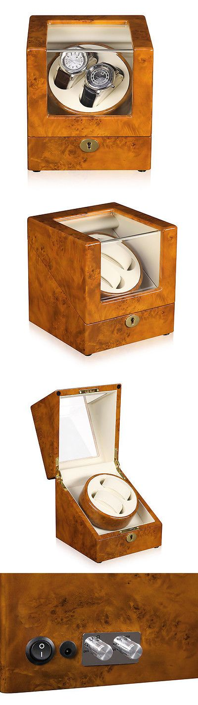 Boxes Cases and Watch Winders 173695: New Automatic Rotation 2 Watch Self-Winding Case Wood Display Box Japan Motor -> BUY IT NOW ONLY: $169.98 on eBay!