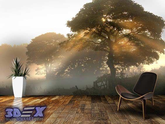 3d tree wallpapers, New 3D wallpaper designs for wall decoration in the home  How to decorate your home with 3D wallpaper for wall, One of the best 3D wall covering and texture for unique interior 2018, Top tips on how to choose suitable 3D wallpaper for a wall in your home, All types of 3D wallpaper types and how to install it?