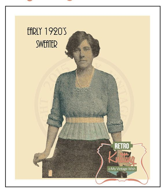 Vintage Knitting Patterns 1920s : 257 best images about Vintage Knits on Pinterest 1920s, 1970s and 1960s