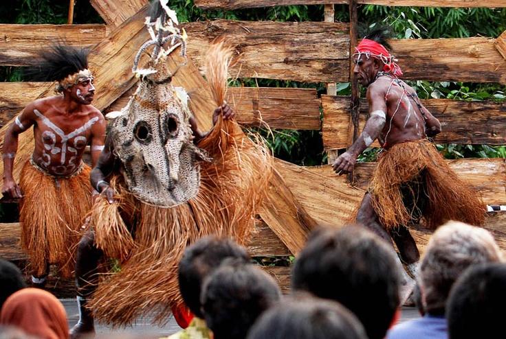 Tari Bikau from Papua. (AFP Photo/Romeo Gacad).