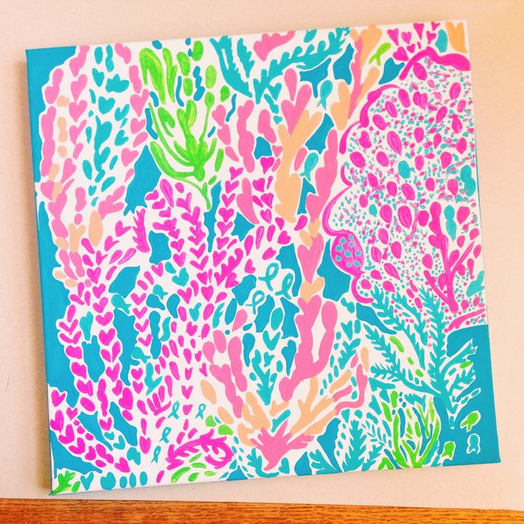 Lilly Pulitzer Inspired Let's Cha Cha Painting by PreppyAsAlways