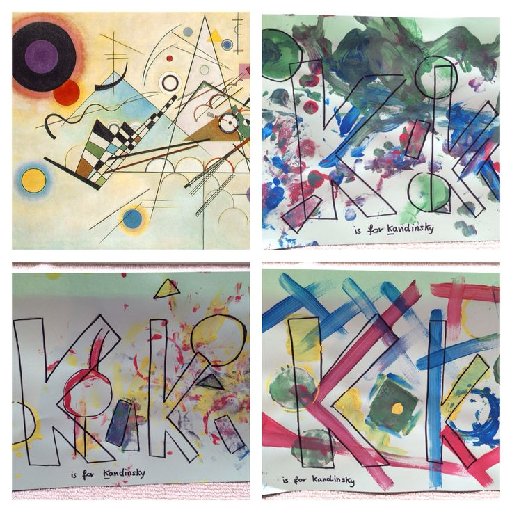 K Is For Kandinsky The Children Explored Shapes And Lines While Learning A Little About Bodhi Treeshapesnurserykandinskyalphabetchildrenfeelingsart