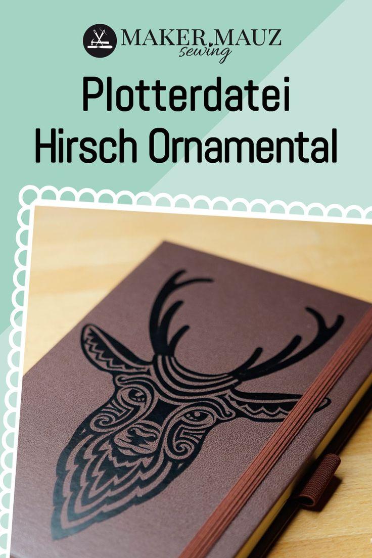 plotterdatei hirsch ornamental  plotterdatei notizblock