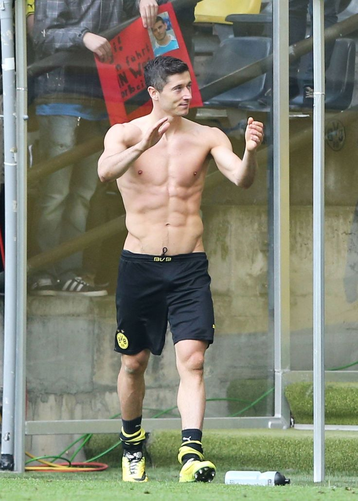 Robert Lewandowski of Borussia Dortmund Holy soccer boy