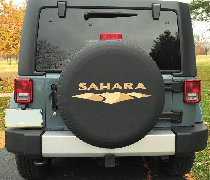 SAHARA Spare Tire Cover Jeep in 2020 Jeep tire cover