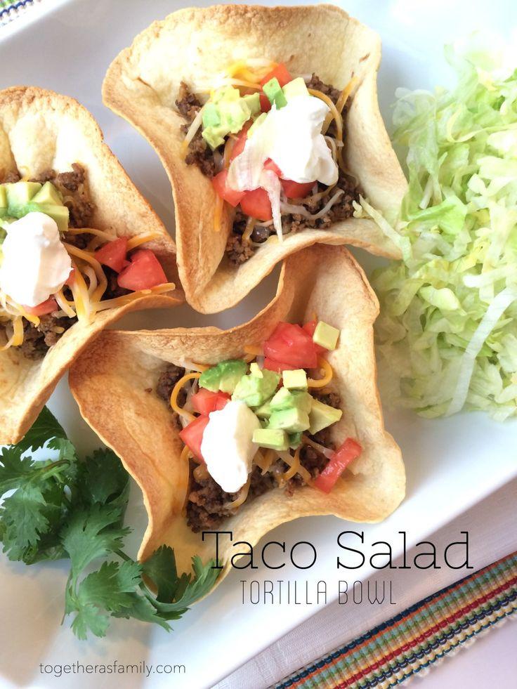 Taco Salad Tortilla Bowls