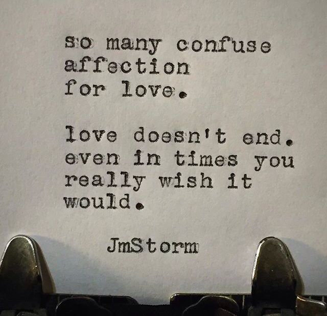 Jm Storm How you know it isn't love.