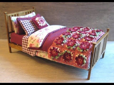 tutorial: miniature bed (bedding)
