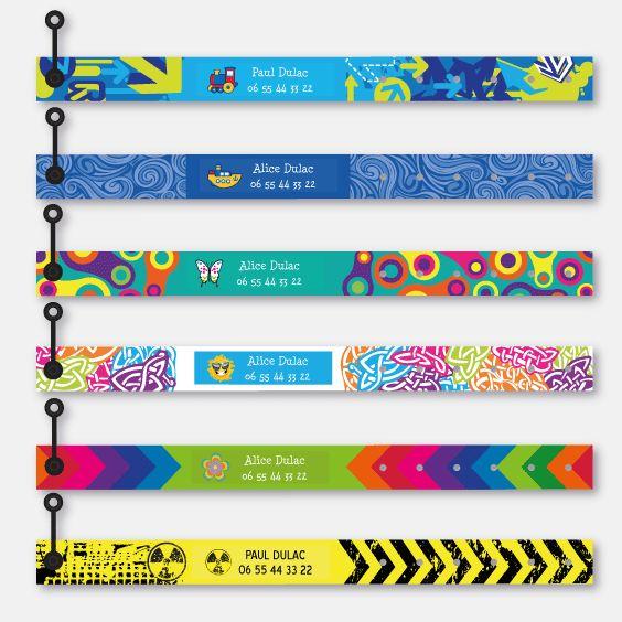 Bracelet personnalisable avec vos coordonnées de contact (cas enfant égaré) mais aussi avec une alerte (cas d'intolérance ou allergie). Sûr et original.