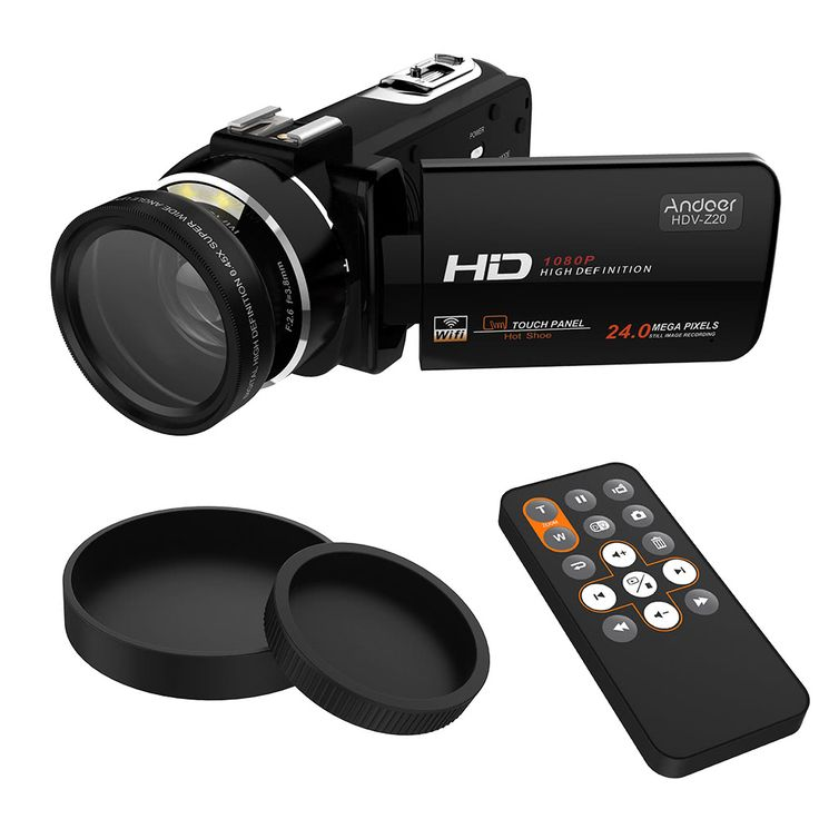 Andoer HDV-Z20 1080P Full HD 37mm 0.45× Wide Angle Lens Sales Online black - Tomtop.com