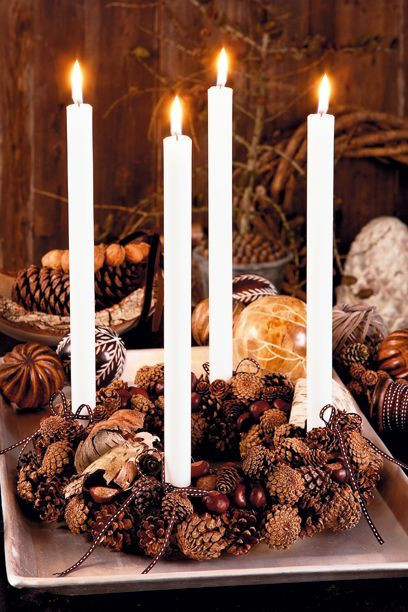 Advent center piece Juledekorationer - lav selv skønne juledekorationer og adeventskranse