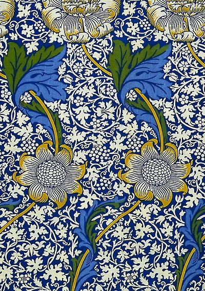 """Kennet"" wallpaper by William Morris, 1883, for Morris & Co."