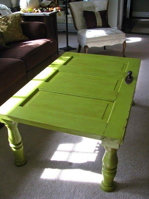 Easy DIY repurposed door table