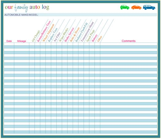 """IHeart Organizing: March Challenge: Project """"Household Binder"""" {Auto Log}"""