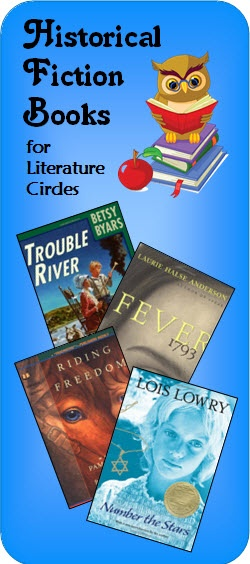 Historical fiction book recommendations for Literature Circles on Laura Candler's Teaching Resources website. Visit this page to read recommendations by teachers who have used these books with their students. You'll find links to where you can find more information on each title.