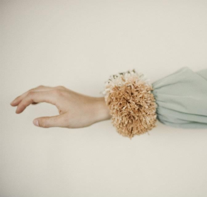 Erin Considine: Pompoms, Pompom Cuff, Details, Sleeve Cuffs, Erin Considine X, Erin Considine Usa, Color Prints Textiles, Photography Inspiration