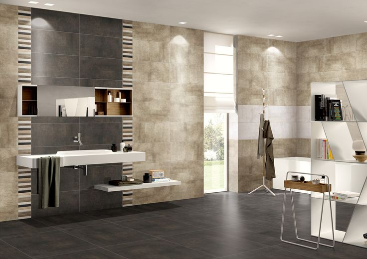 Minimalist and stylish bathroom design with Charlotte Series and mosaic wall decor. CLT600 + CLT603 + CLT6-148MX (Wall Decor & Mosaic).