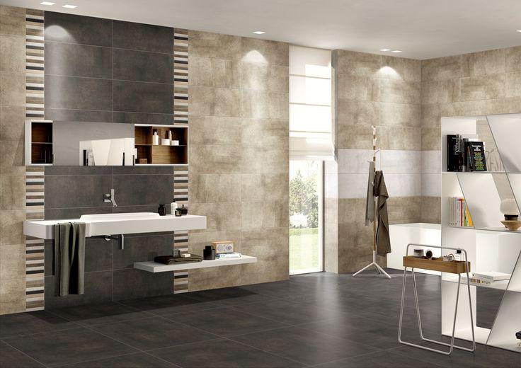 Minimalist and stylish bathroom design with Charlotte Series and mosaic wall decor. CLT600 + CLT603 + CLT6-148MX (Wall Decor & Mosaic).